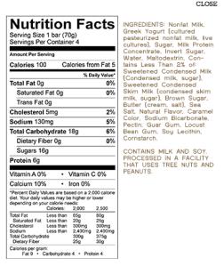 YASSO nutrition
